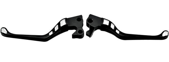 【06100829】 RSD Avenger Inlay ブレーキ&クラッチレバー/コントラストカット ハーレーパーツ