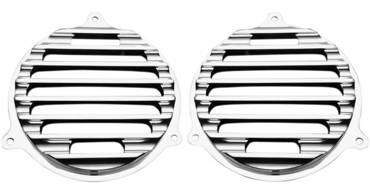 【44050370】 フロント スピーカーグリル/クローム ハーレーパーツ