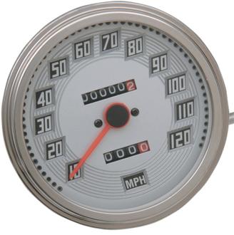 【DS243832】 FLスタイル スピードメーター:Billet-look face ハーレーパーツ