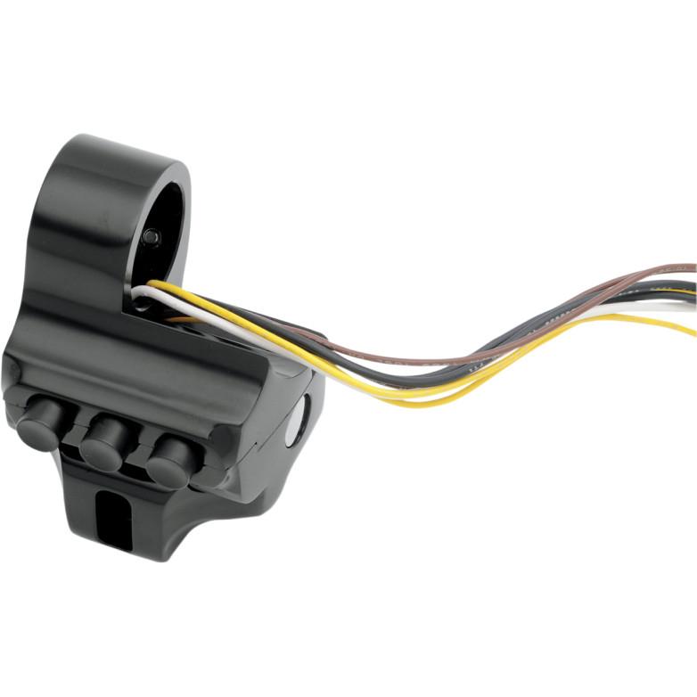 【21060196】 Contour スイッチハウジングFL用:ハイドロリッククラッチ/4ボタン/ブラック ハーレーパーツ