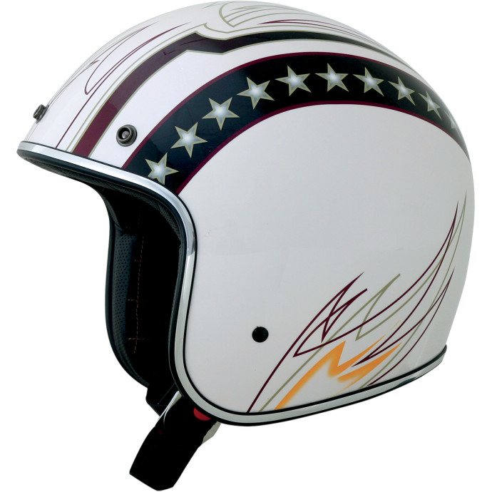 White Lines FX-76 ジェットヘルメット ◆ハーレーアパレル◆
