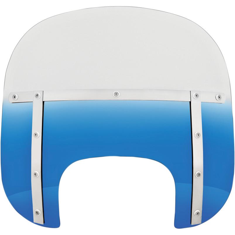 """ハーレーカスタムパーツ ウインドスクリーン 大人気! 23110025 13""""FATSスクリーン Shades 1年保証 Memphis FLFB用:Blue"""