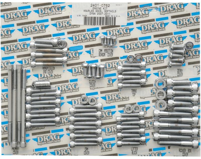 【24010762】 エンジンボルトキット ソフテイル用:2007~17年ソフテイルモデルに適合/