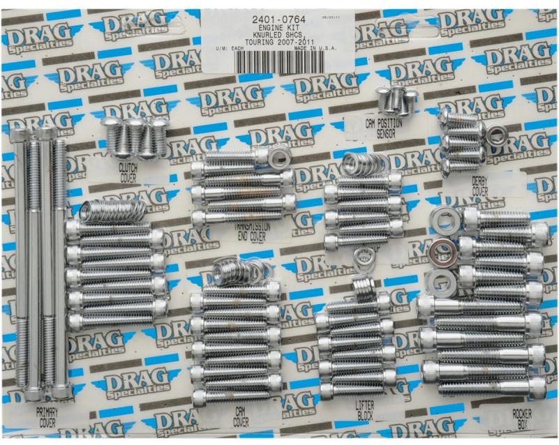 【24010764】 エンジンボルトキット ツーリング用:2007~16年ツーリングモデルに適合/KNURLED