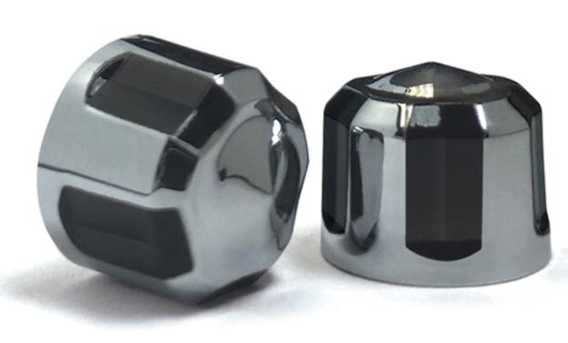 【24040626】 DIAMOND CUT CROWN ボルトキット ツインカム用:クローム/ブラック