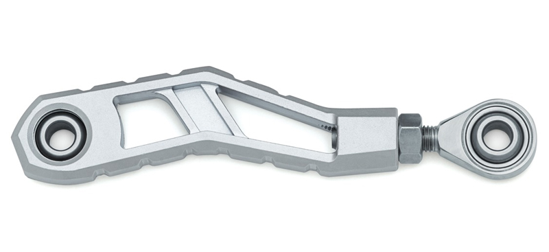 【3570】 RIOT シフターリンケージ:2006~17年ダイナモデルでミッドコントロール車に適合/シルバー