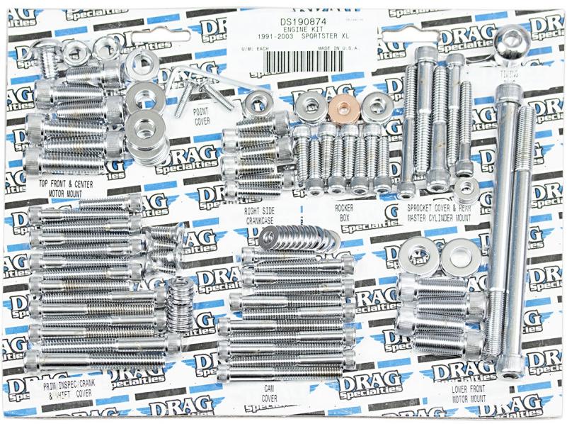 【DS190874】 エンジンボルトキット スポーツスター用:1991~03年スポーツスターモデルに適合/KNURLED