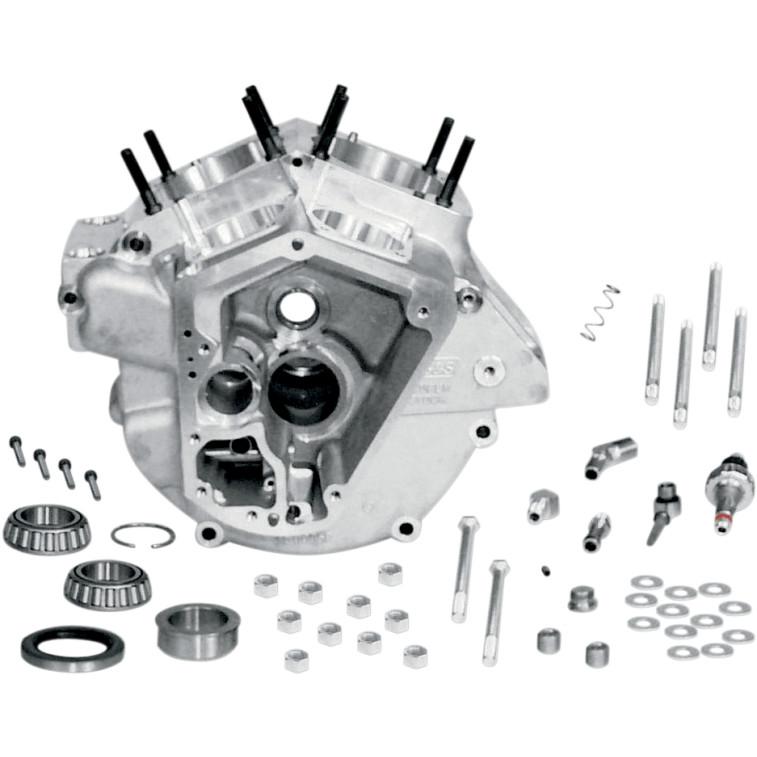 """【DS194305】 SUPERSTOCK エンジンケース:1970~84年ビッグツインモデルに適合/スタンダードボア(3.5"""") / ナチュラルフィニッシュ"""
