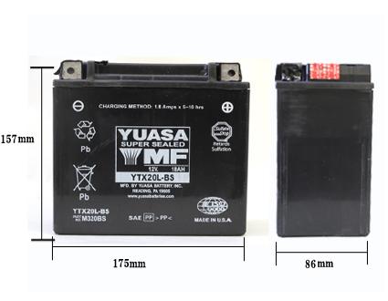 YUASA ハーレー用バッテリー 【YTX24HL-BS】 ハーレーパーツ