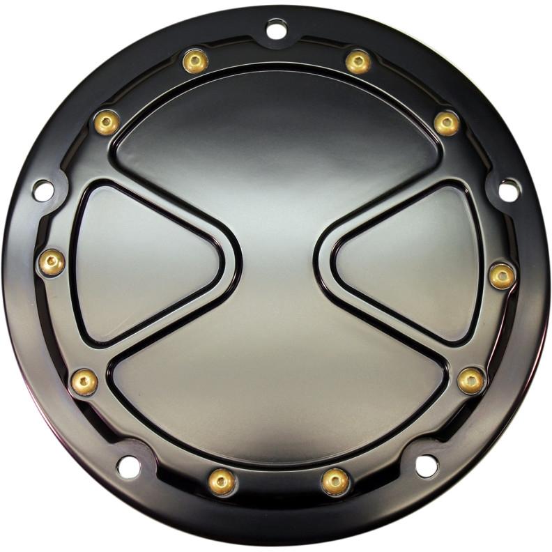 【11070501】 BOMBER ダービーカバー:2016年以降ツーリング、トライクモデル、2015年FLHTCUL、FLHTKLに適合/ブラック