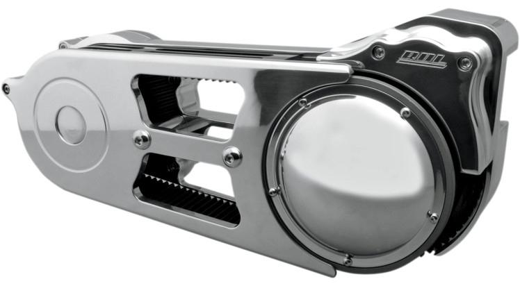 """【11200256】 2""""ベルトドライブキット トップベルトガード付き:1990~06年ソフテイルモデルに適合/ポリッシュ"""