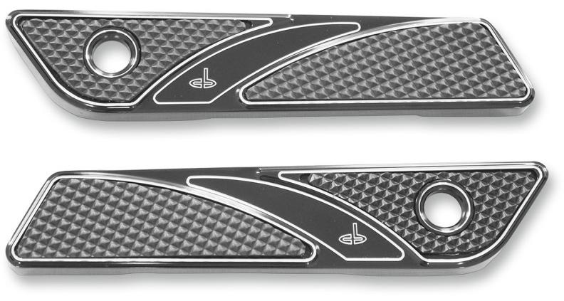 【35011012】 ELITE サドルバッグラッチカバー:2014年以降ツーリングモデルでハードサドルバッグ装着に適合/ブラック