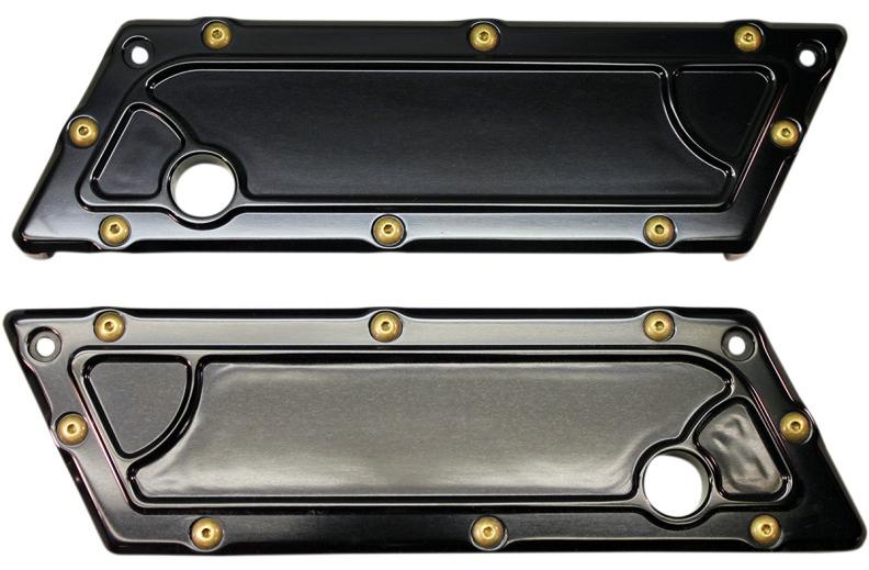【35011187】 BOMBER サドルバッグラッチカバー:1993~13年ツーリングモデルでハードサドルバッグ装着に適合/ブラック