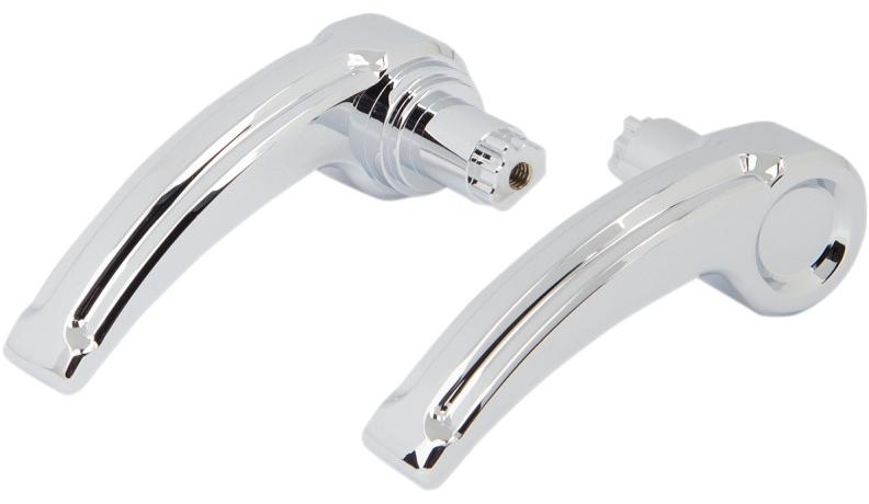 【35011208】 BEVELED サドルバッグ ラッチレバー:2014年以降ツーリングモデルに適合/クローム