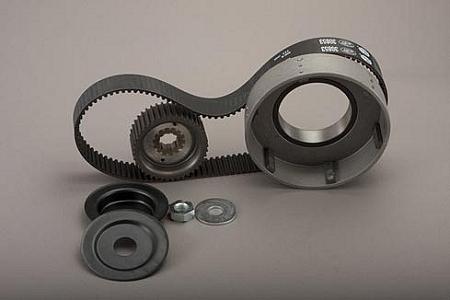 """【DS360102】 8mm 1-1/2""""ベルトドライブキット:1965~78年ビッグツインキックスターターモデルに適合"""
