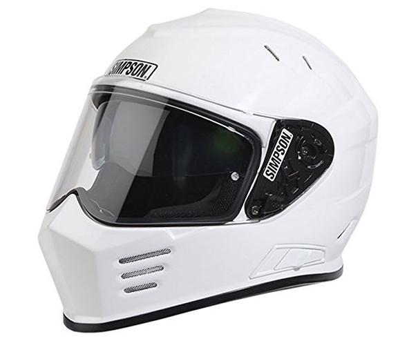 【gbdxs1】 Simpson Ghost Bandit DOT - WHITE ホワイト ハーレーアパレル