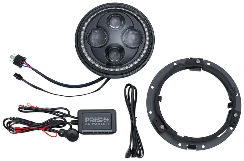 "Headlight W Bluetooth Controlled Halo Kuryakyn 2463 Orbit Prism 5 3//4/""  L.E.D"