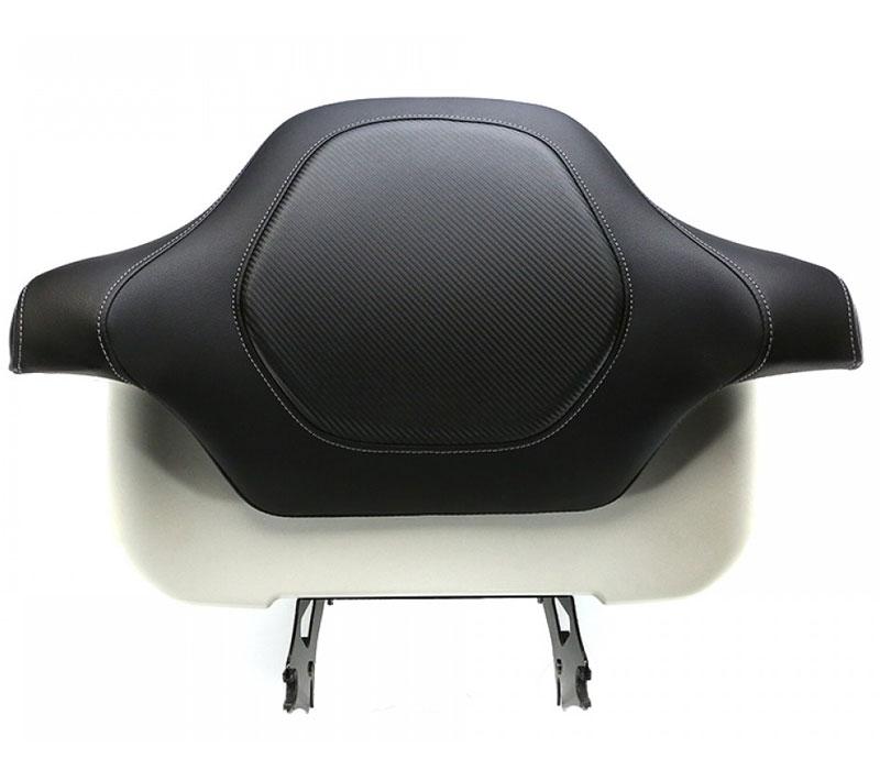 【08011257】 ROAD SOFA CF ツアーパック パッド カバー:2014年以降ツーリングモデルで、純正キングツアーパックバックレストパッド(品番:52300312)装着車に適合