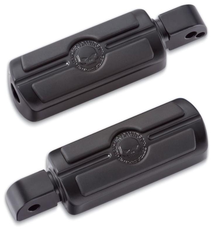 【50501282】 スカル フットペグ ブラック:/パッセンジャー用