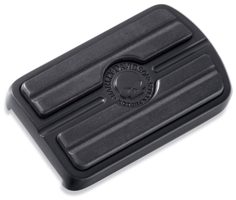 【50600343】 スカル ブレーキペダルパッド ラージ ブラック: