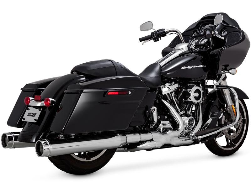 【18011458】 VANCE&HINES TORQUER 450 スリップオンマフラー ツーリングモデル用 :/クローム