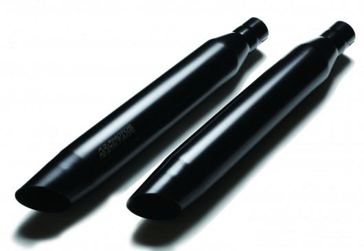 最低価格の 【20080116】 MOTOR STAGE スリップオンマフラー ブラス76テーパースラッシュ MOTOR ソフテイルモデル用【20080116】 2007~16年FLS STAGE、FLSTN、FLSTSBに適合/黒, エスディーシー:4d3ce846 --- promilahcn.com