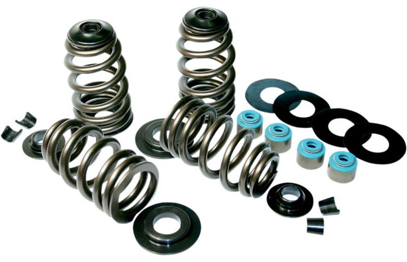 """【09261468】 ECONO BEEHIVE バルブスプリングキット:2004年以降スポーツスターモデル、2005~17年88""""/96""""/103""""ツインカムモデルに適合/7° 、 7mm valve stem w/stock triple keeper groove"""