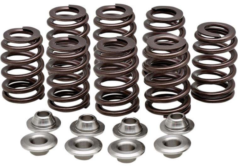 【09262968】 HIGH-PERFOMANCE OVATE WIRE BEEHIVE バルブスプリングキット:2017年以降M-EIGHTモデルに適合/.550 lift (seat pressure 104 lb.) Titanium valve retainer