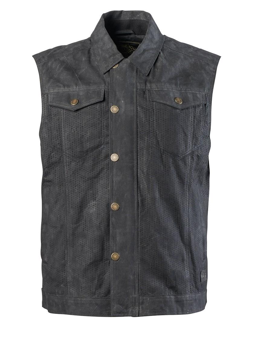 【送料無料】 ▼ハーレーカスタムアパレル ベスト▼S/M/L/XL 【rd8604】 Ramone Perforated Waxed Cotton Vest S/M/L/XL ブラック、レンジャー ハーレーアパレル