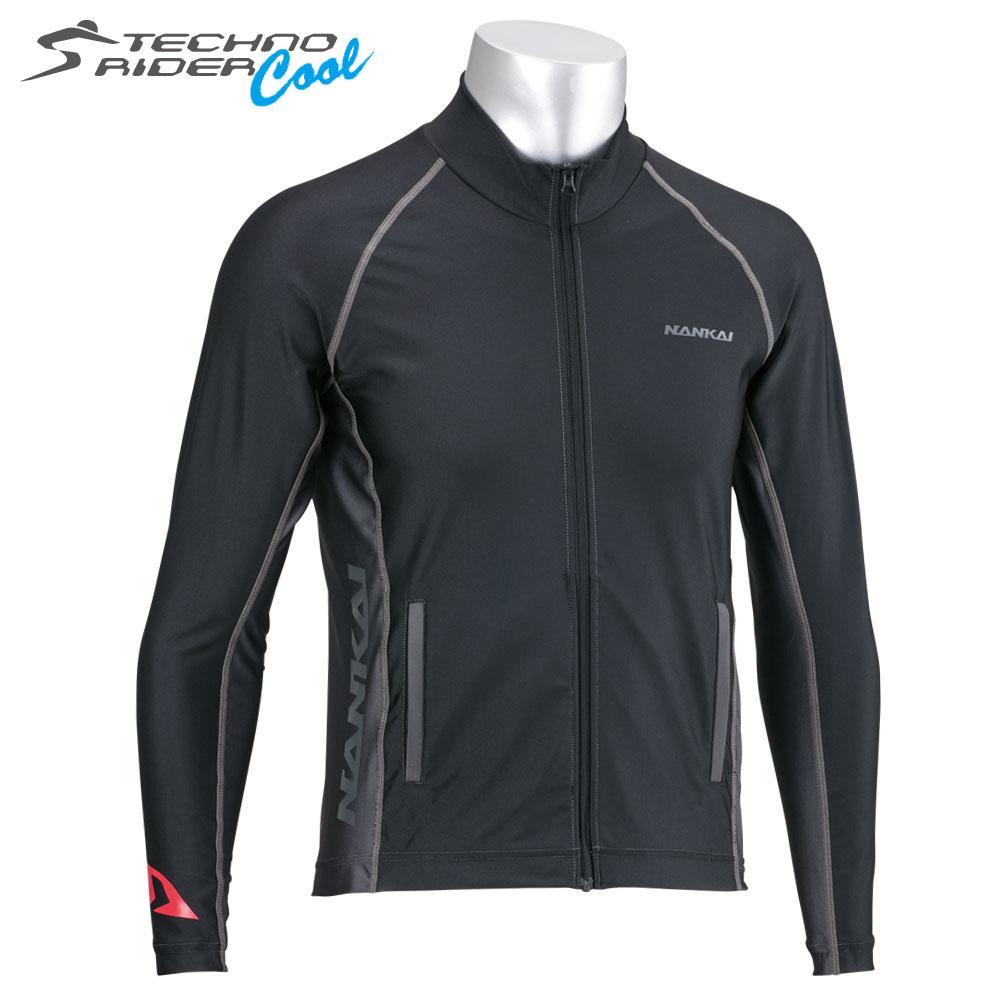 【sdw-3039】 SDW-3039 テクノライダー クールZIPシャツ ブラック/グレー、グレー/ブラック