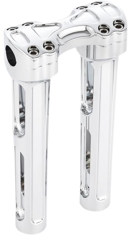 【06020960】 METHOD ハンドルバーライザーキット:クローム/高さ 10インチ(約25.4cm)1インチハンドルに適合