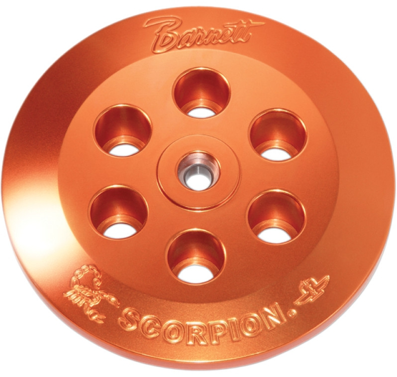 【11310278】 SCORPION プレッシャープレート:2000~06年ソフテイルモデル、1999~06年ツーリングモデルで油圧クラッチ装着車に適合