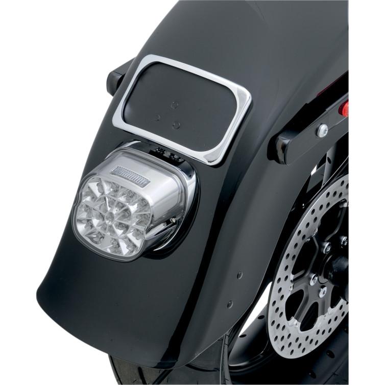 【20100744】 WEB LED テールライト:1999年以降スポーツスターモデル、ダイナモデル、ソフテイルモデル、ツーリングモデルで標準装備のスクエアバックテールライト装着車に適合/上部ナンバー灯
