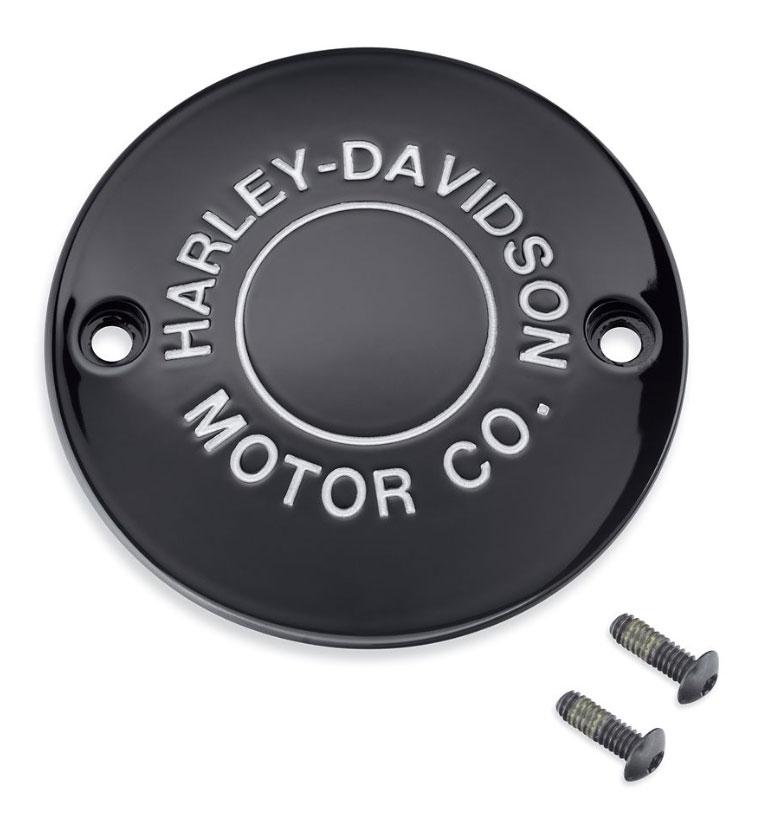 ハーレー純正パーツ エンジン周り 25600134 H-D MOTOR タイマーカバー CO.ロゴ 安心と信頼 セール 特集 グロスブラック: