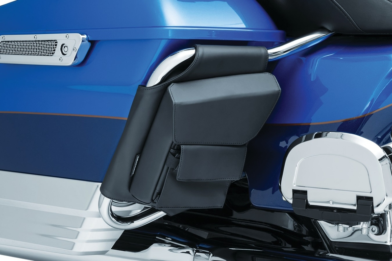 【5289】 ツーリング サドルバッグポーチ:1993年以降ツーリングモデルでサドルバッグガードレール装着車に適合 (但し1993~13年モデルでツインレールのガード装着車は除く)
