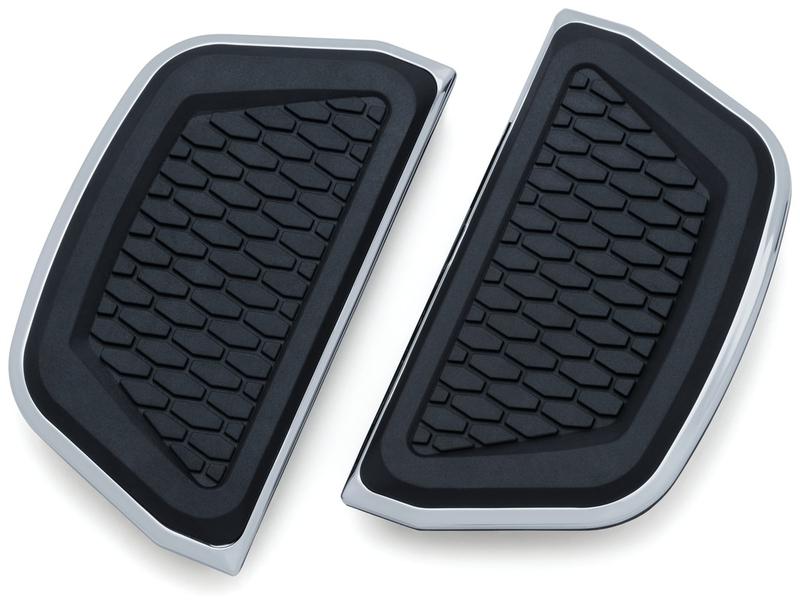 【5902】 HEX パッセンジャーフロアボードインサート:1986年以降ツーリング、トライクモデル、1986~17年ソフテイルモデル、2006~17年ダイナモデルでトラディショナルシェイプ・パッセンジャーフットボード装着車に適合/クローム