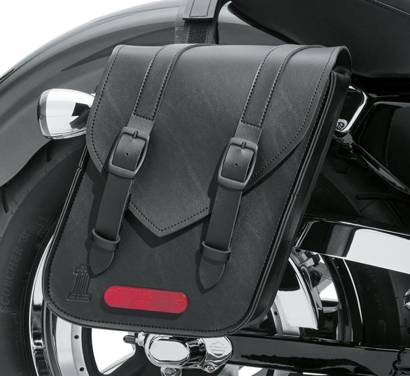 【90201769】 ブラック スタンダードライン スローオーバー サドルバッグ:1982年以降XLモデルに適合 (但しXL1200Tは除く)