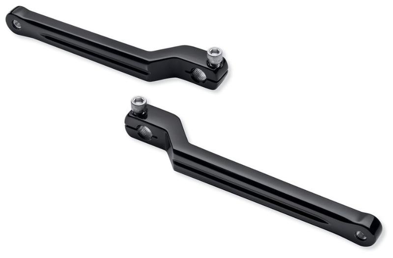 【33600255】 エアフロー・ヒール&トゥ・シフトレバー:1986~17年FLソフテイルモデル、1988年以降ツーリング、トライクモデルに適合/グロスブラック