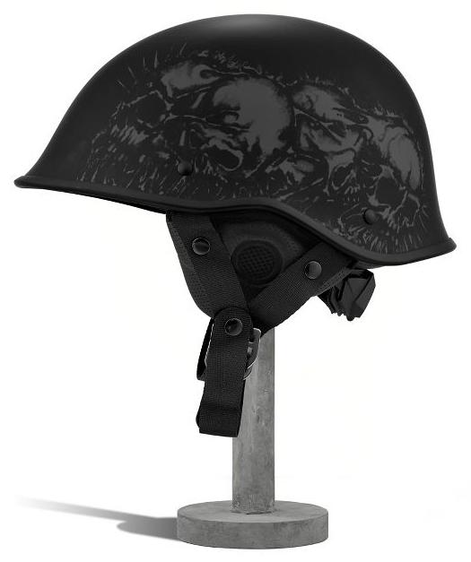 Flat Black DOT APPROVED Motorcycle Helmet Skull Graphic Half Helmet w//Liner NEW