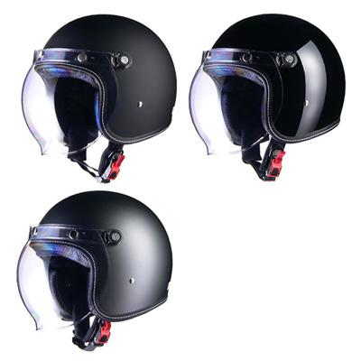 【mr-70】 Murrey MR-70 ジェットヘルメット マットブラック、ブラック、スモーキーシルバー M/L