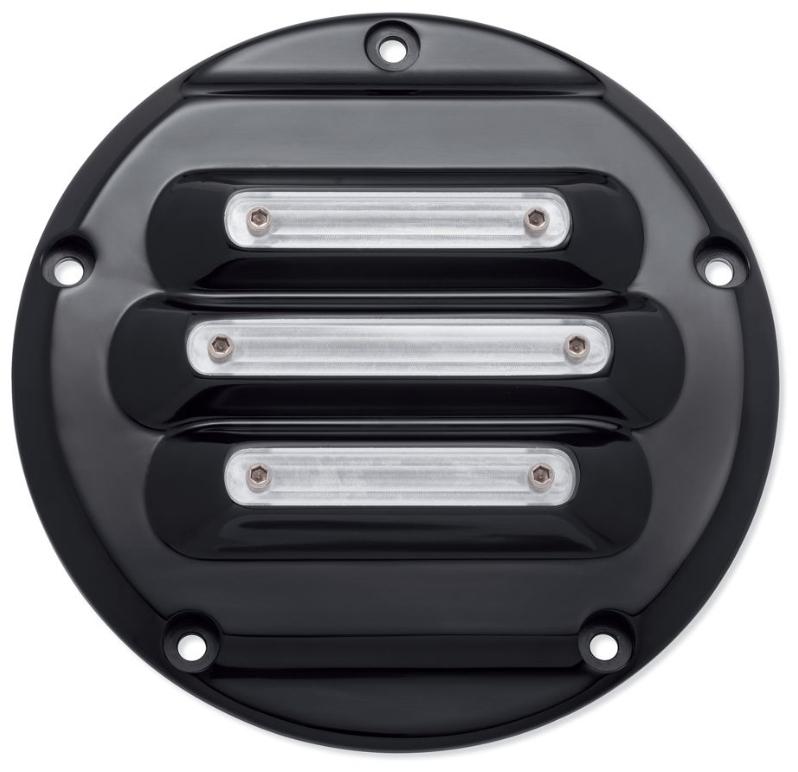 送料無料 国際ブランド ハーレー純正パーツ エンジン周り 25700965 グロスブラック 2018年FLSBに適合 爆買いセール ドミニオン ダービーカバー:2019年以降ソフテイルモデル