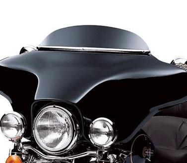 【58204-98】 エレクトラグライド/102mm・ブラック・ウインドデフレクター:1996~13年FLHT、FLHXに適合