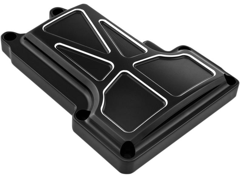 【11050188】 FORMULA トランスミッショントップカバー:2007~16年ツーリングモデル、2006~17年ダイナモデル、2007~17年ソフテイルモデルに適合/コントラストカット