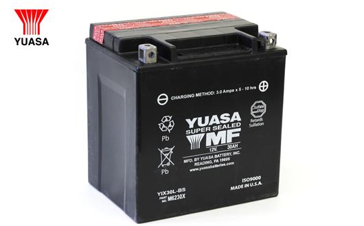YUASA ハーレー用バッテリー 【YTX14L-BS】 ハーレーパーツ