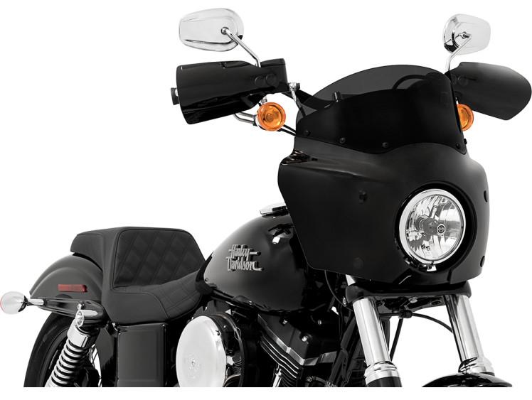 【23500443】 SOLID ウインドシールド ROAD WARRIOR フェアリング用:Dark Black Smoke/高さ:7インチ