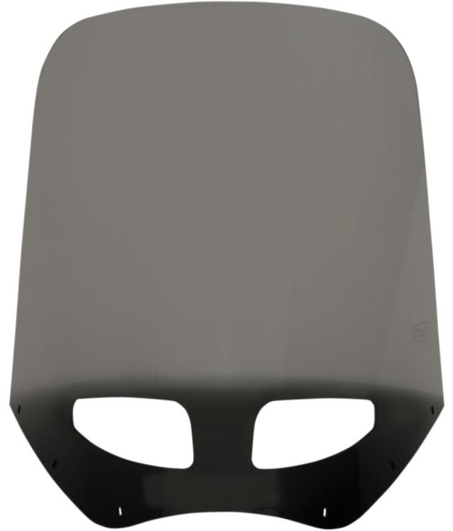 【23500467】 VENTED ウインドシールド ROAD WARRIOR フェアリング用:Black Smoke/高さ:17インチ