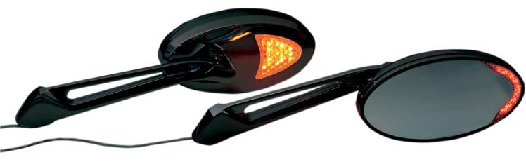 【06400658】 CUSTOM LEDアクセント ミラー:ブラック