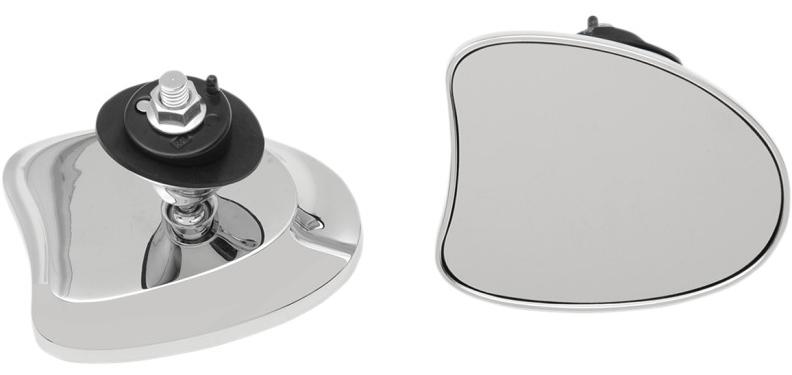 【06401096】 DELUXE フェアリングマウントミラー:2014年以降FLHXモデルに適合