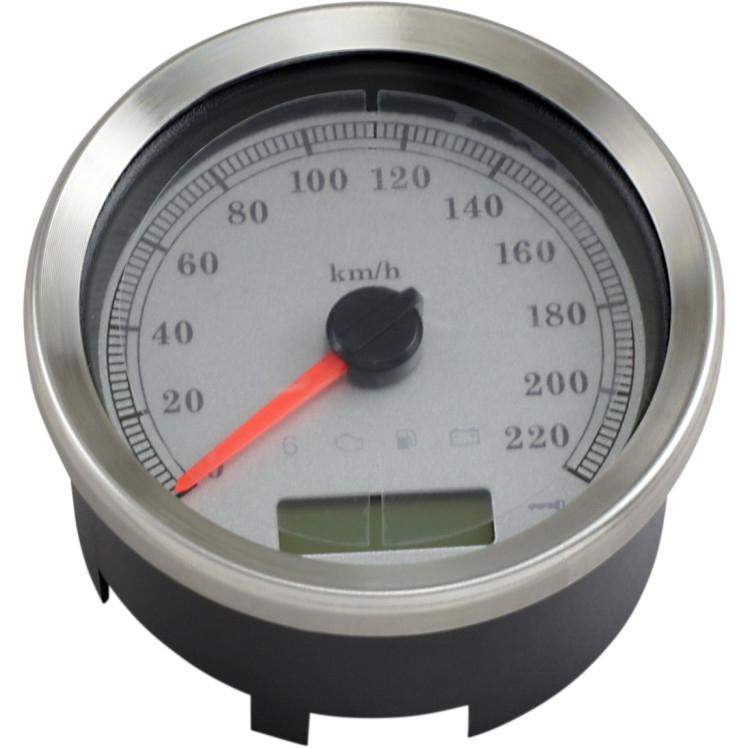 【22100461】 PROGRAMMABLE スピードメーター 4インチ:2004~13年FLHT/FLTR、2008~10年FXCW/C、2004~11年FXD/FXDL、2004~13年XLモデルに適合/ホワイトフェース