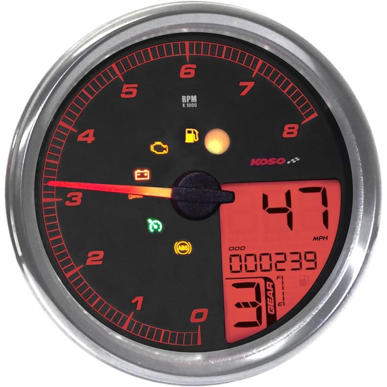 【22110184】 HD-5 スピード/タコメーター:2004~13年FLHR、2004~10年ソフテイルモデル、2004~11年ダイナモデルに適合